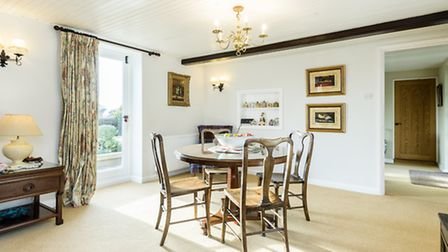 The dining room at Heath Cottage, Thursford.