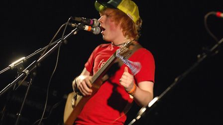 Pictures of the Next Big Thing Final 2008 at the UEA LCR, Sunday Nov 9. Performing is Ed Sheeran. Ph