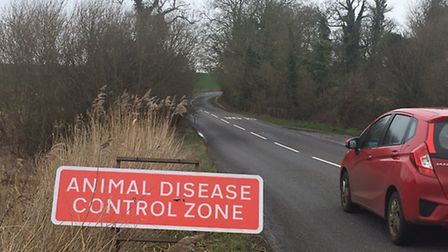 A warning sign near Gressingham Foods in Redgrave. Picture: STUART ANDERSON
