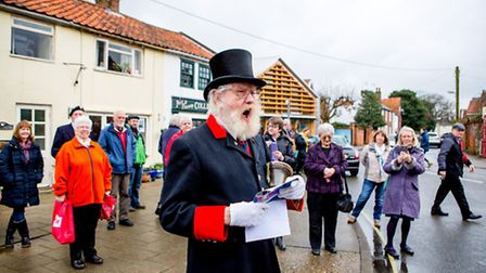 Southwold town crier, John Barber has retired at the age of 90. Picture: DOMINIC WHITEN/COASTAL CREA