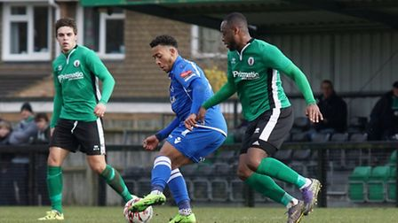 Nico Cotton in action at Burgess Hill. Picture: Shirley D Whitlow.