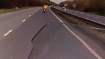 The motorbike was stopped by police on the A47 in Norwich