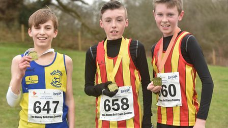 In the junior race, Danny Adams was the first home in a time of 12 minutes and 47 seconds. He was fo