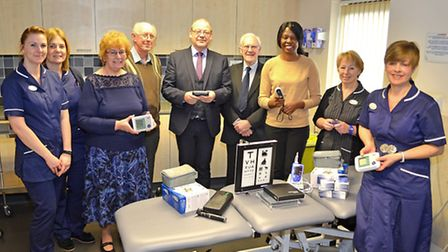 Bridge Road surgery staff receive items of new equipment donated by Friends Supporting Lowestoft Hea