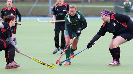 Evergreens II's Dee Clipston scored her side's winning goal in their 2-1 victory over Herlings, P