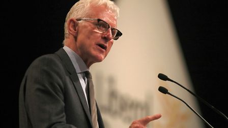 Norman Lamb MP speaks at the Liberal Democrats Autumn conference in Brighton, Sussex. PRESS ASSOCIAT