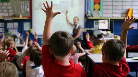 Children in the classroom. Picture: Dave Thompson/PA Wire