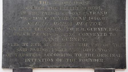 The Belfry School plaque on the wall of the former school, turned into the Belfry Centre for music a