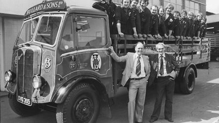 A brewery dray lorry rescued from the scrape heap is pictured at the Mann Egerton Leyland Trick Cent