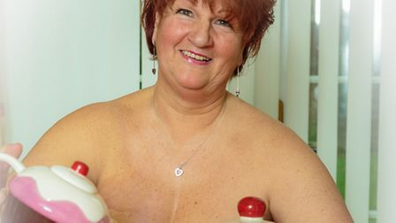 Norfolk-based charity Keeping Abreast gear up for their 4th Booby Cupcake Week, Pictured is Jacky Ro