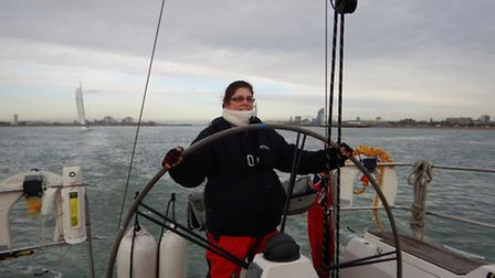 Sandra Squire will be training for four weeks with Clipper ahead of her big race. Picture: Sandra Sq