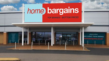 The new Home Bargains store at the North Quay Retail Park, Lowestoft, which opened on Saturday, Marc