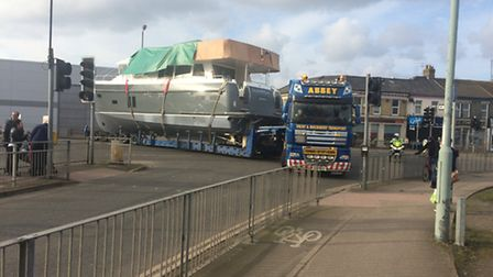 The Maresia pulls into Southtown Road in Great Yarmouth Picture: Anthony Carroll