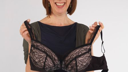 Sue Pringle founder of Mille Lingerie with her new Millie bra designed to be comfortable for women w