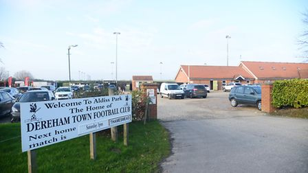 Aldiss Park, the home of Dereham Town Football Club, which is close to where the incident ocurred.