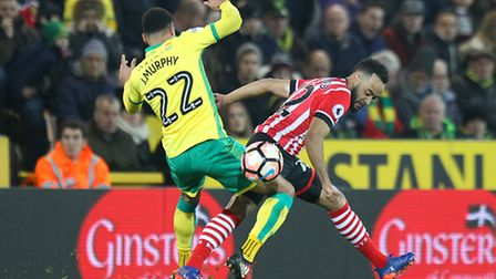 Past and present - Nathan Redmond and Jacob Murphy. Picture: Paul Chesterton/Focus Images Ltd.