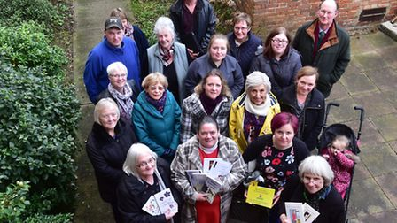 Beccles charter weekend committee, gather at the Hungate church for a team photo.PHOTO: Nick Butch