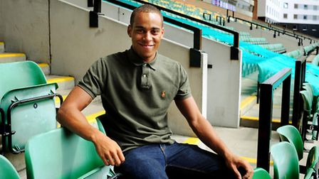 Elliott Bennett in the Barclay Stand after signing for City. Picture: Bill Smith.