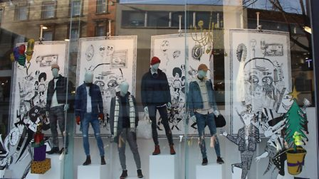 Topman shop window. Picture: Emily Revell