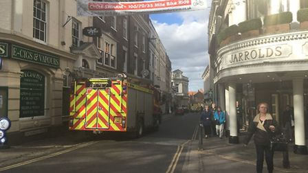 Emergency services were called to Jarrold in Norwich. Picture Courtney Pochin.