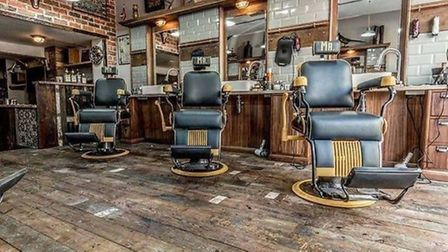 A look inside the MR. Barbers shop in Cambridge. The Norwich branch is expected to look similar. Pic
