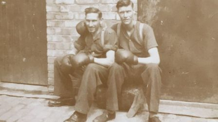 George Smith, right, and army friend Herbert Brown. Pictures supplied by Pat Wright