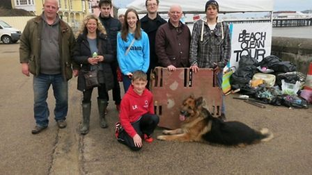 Holly Rumsby at last year's Big Spring Beach Clean in Cromer. Picture: HOLLY RUMSBY