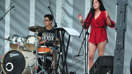 Maizie Walsh on stage at last year's Beccles Harvest Moon Festival. PHOTO: Nick Butcher