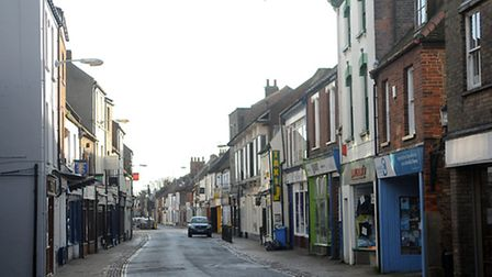 Part of Norfolk Street, in King's Lynn, wwill be closed flor resurfacing works. Picture: Chris Bisho