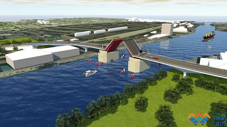 Artist impressions of the Lake Lothing Third Crossing Project in Lowestoft by Kier and Mouchel. Phot
