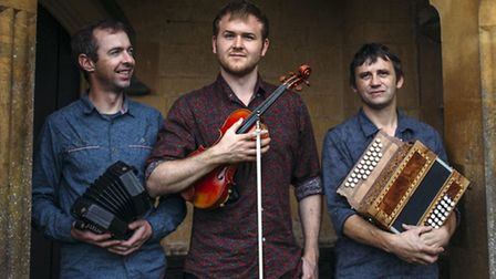 Three of England's finest folk musicians, Andy Cutting, Sam Sweeney and Rob Harbron, in exciting col