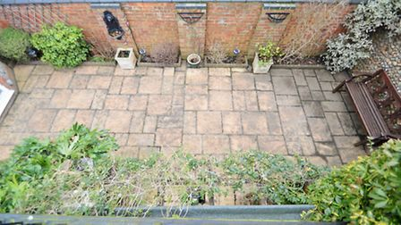 Patio at Prospect House, Holt. Photo from Watsons' Period & Prestige.