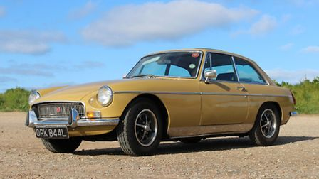Clive Harvey's 1972 MGB GT, dubbed The Yellow Peril, was his dream first car. Picture: Clive Harvey