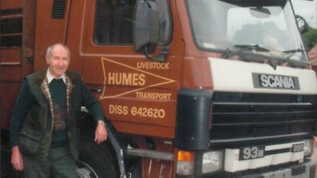 Ronnie Hume, of haulage contractors F W Hume & Son, who lived at Brome, near Eye, and has died at th