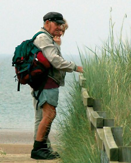 Peter Clarke with daughter Penny at Titchwell RSPB, October 2006 Picture: Frank Edmonds