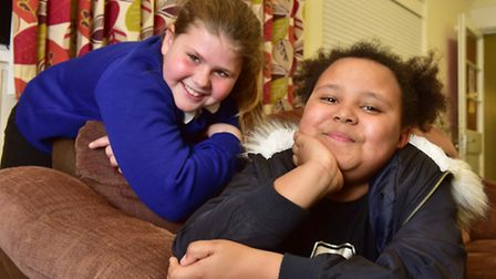 Mile Cross playscheme has recieved a grant from Comic Relief.Madison Feavyer and Keisha Hewitt.PHO