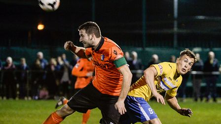 Action from the Norfolk Senior Cup Semi Final at the FDC in Norwich.