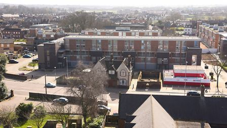 Hillington Square in King's Lynn, seen from the roof of Greyfriars Tower. Picture: Ian Burt