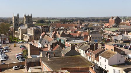 The Minster in King's Lynn, seen from the roof of Greyfriars Tower. Picture: Ian Burt