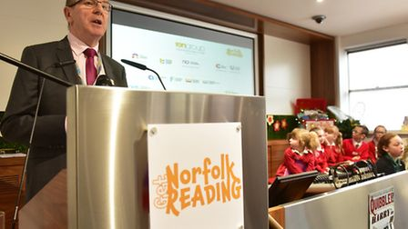 TEN group CEO, Dick Palmer, opens the launch of Get Norfolk Reading initiative. PHOTO: Nick Butcher