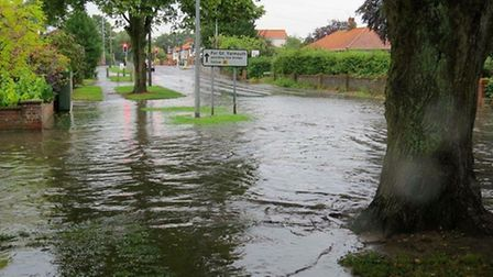 Flooding in Thorpe St Andrew. Pic: Norfolk County Council