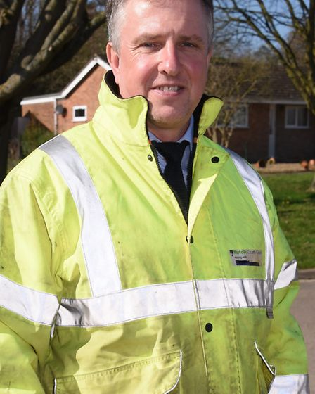 Chris Alston, Norfolk County Council highway area manager. Picture: DENISE BRADLEY
