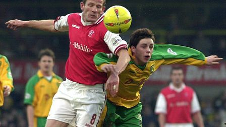 Ian Henderson in action for Norwich City against Rotherham in January 2003. Picture: James Bass