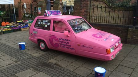 The Lauren Lou car at a previous collection in Beccles town centre.