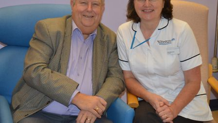 Study participant Charlie Francis and podiatrist Rachel Murchison. Picture submitted by Norfolk and