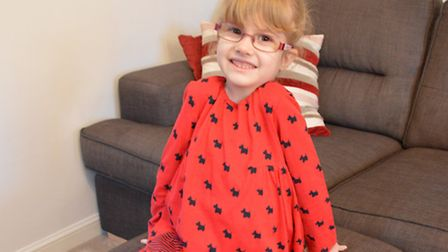 Amelie Holl, 4, who has a rare condition. Picture submitted by National Institute for Health Researc