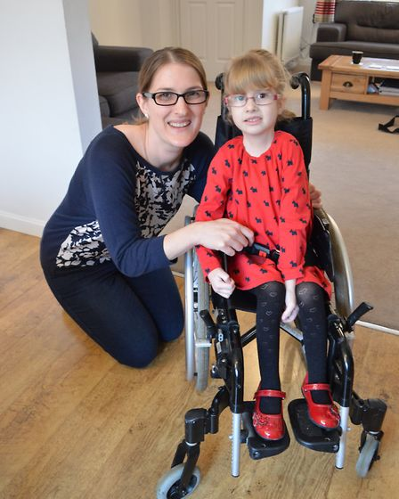 Amelie Holl, 4, who has a rare condition, with her mother Naomi Holl. Picture submitted by National
