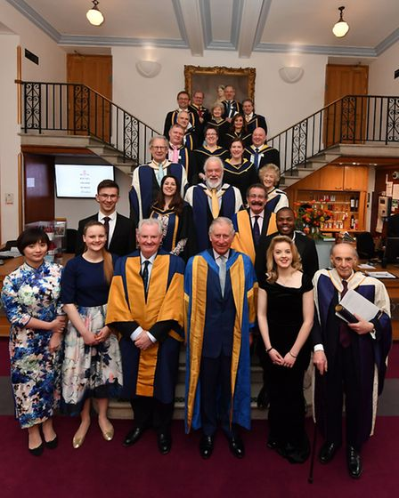 Those presented with honours by HRH The Prince of Wales at Royal College of Music's annual awards, i