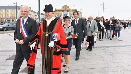 Great Yarmouth and Rambouillet. Celebrating the 60th Anniversary of Twinning. Picture: James Bas