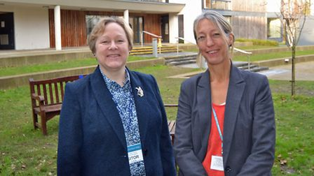 Jan Hytch of Arnolds Keys, left, and Liz Edwards of Wymondham College. Picture: ANDY NEWMAN
